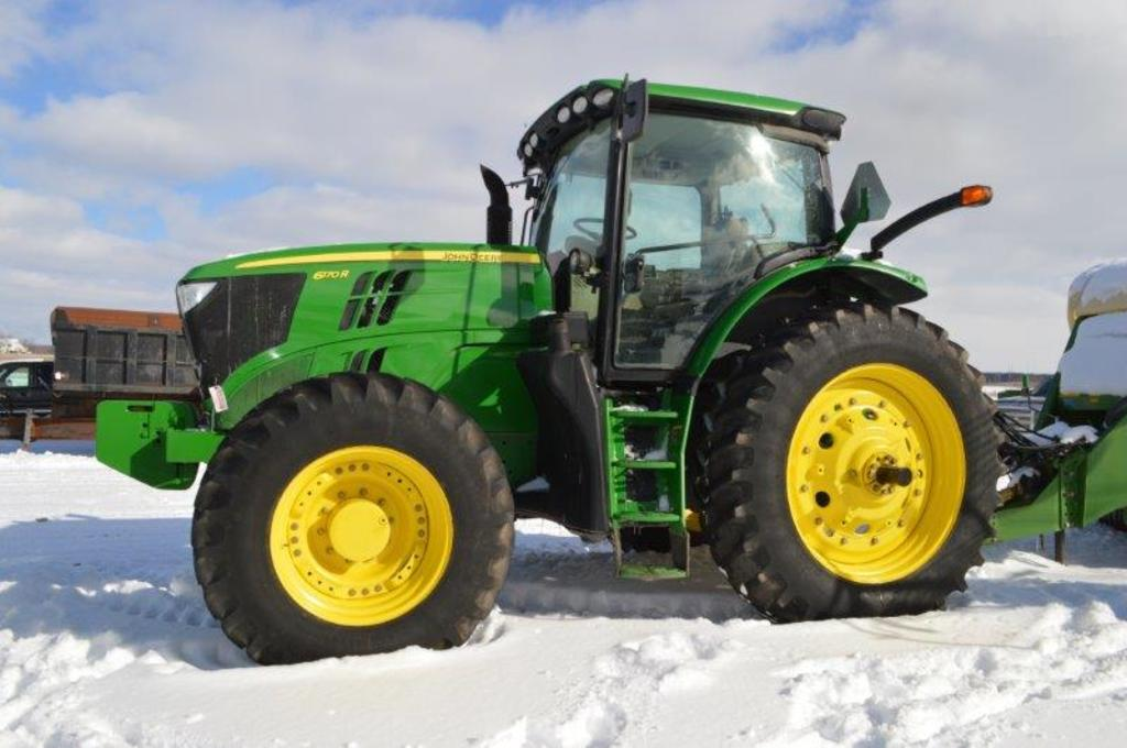 '12 JD 6170R w/ 4,687 hrs, IVT w/ left hand reverser, 4wd, 3 remotes, quick