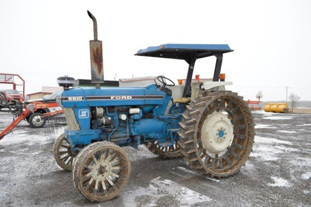 Ford 6610 Series 2 w/ 4,121 hrs, 2 remotes, 540 pto, Steel belting wheels