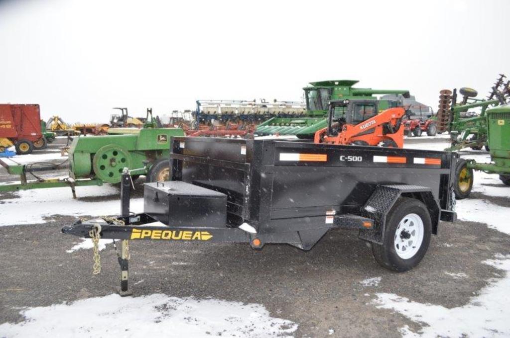 '18 C500, 8' Pequea dump trailer, (brand new, 2 yr warranty!!!) VIN# 4JADT5