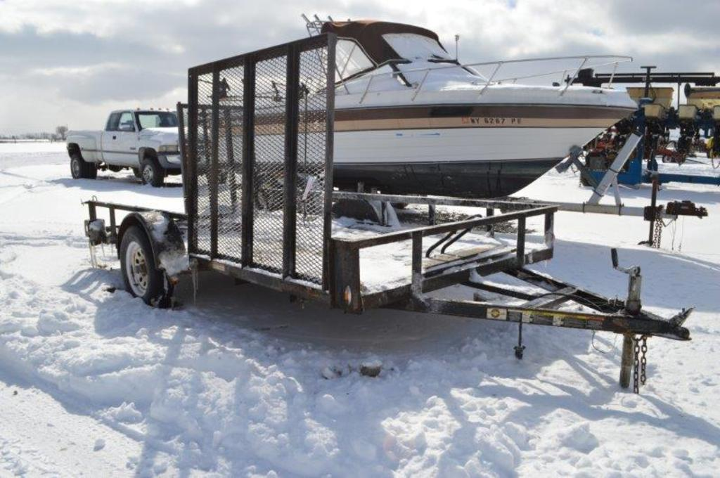 '05 Carry-On ATV/landscape 10' trailer w/ side and rear unload ramps, VIN#
