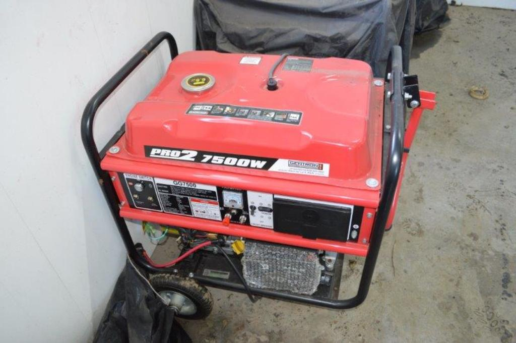 Gentron Pro2 7500w Generator w/ Gentron 420CC motor, 110/240 volt(new)