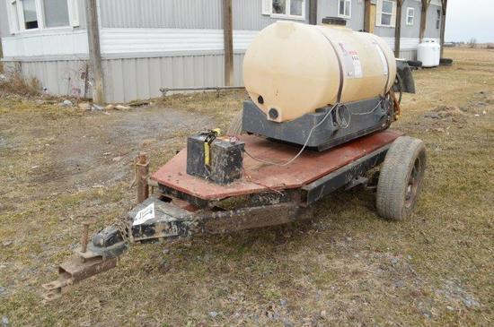 Regent 100 gallon sprayer w/ elect pump and cart
