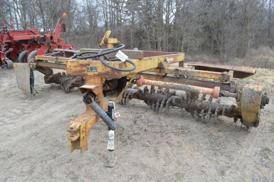 Degelman LC14 14' rock rake, PTO drive