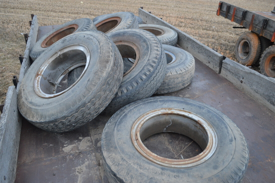 8 used truck tires w/ rims