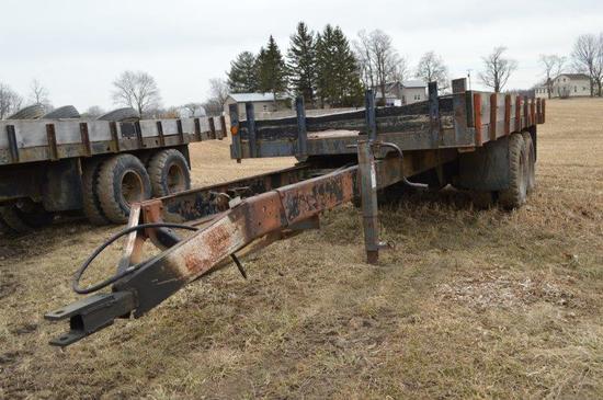 18' farm trailer w/ dump