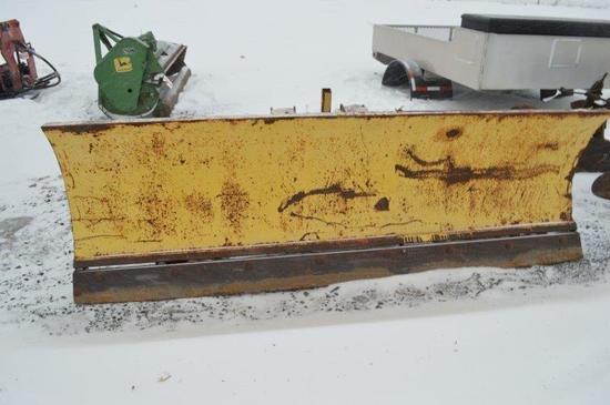 7.5' fork mount snow plow for skid loader