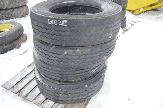 4- 245/70R 19.5 TIRES