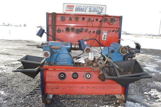 Ammco complete brake lathe system for drum and disc brakes