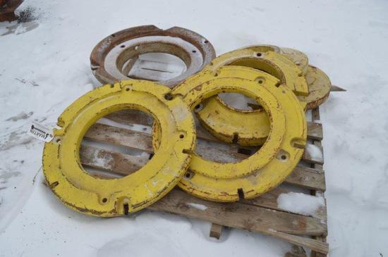 Pallet of wheel weights