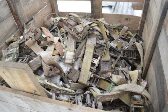 crate of rachet straps