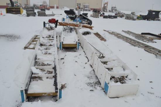 50' poly feed conveyers w/ motor