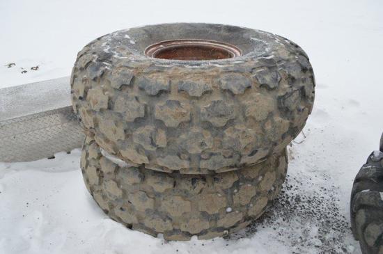 2-18.4-16 tires w/ 10 bolt rims