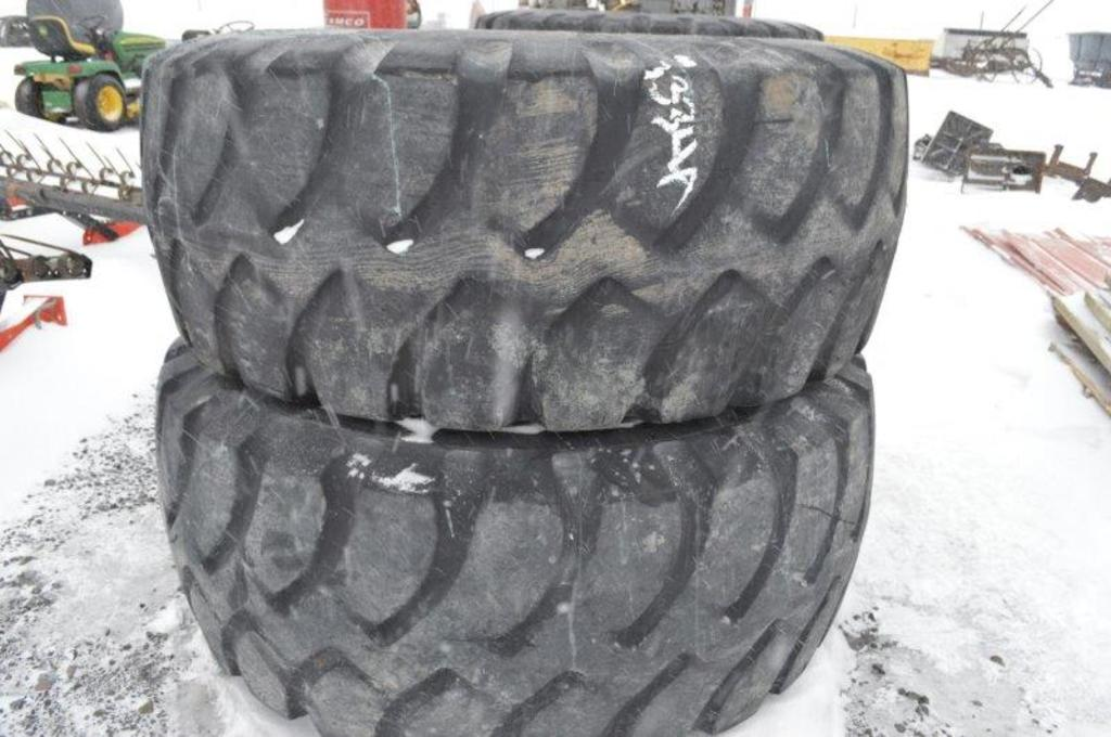 4-  Goodyear 23.5R25  payloader tires