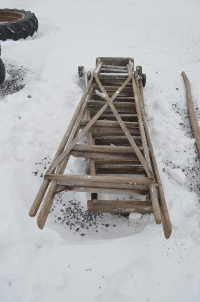 2- wooden step ladders