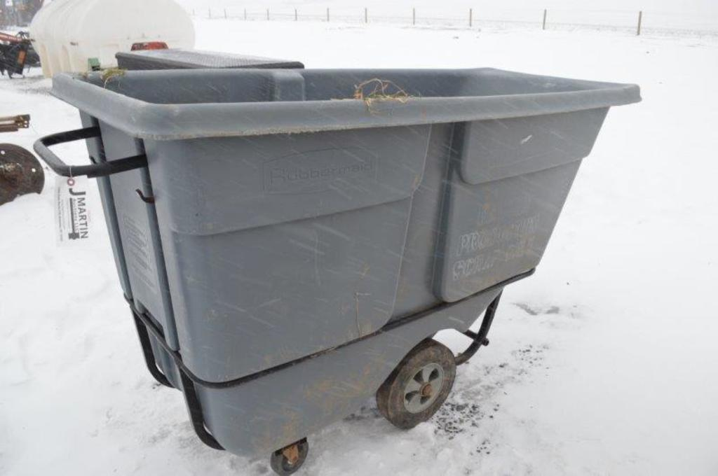 Rubbermaid two wheeled cart