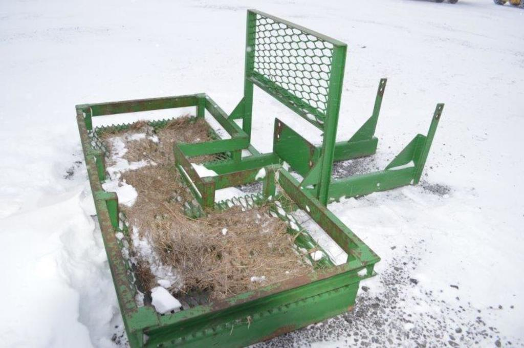 JD tractor mount stone carrier