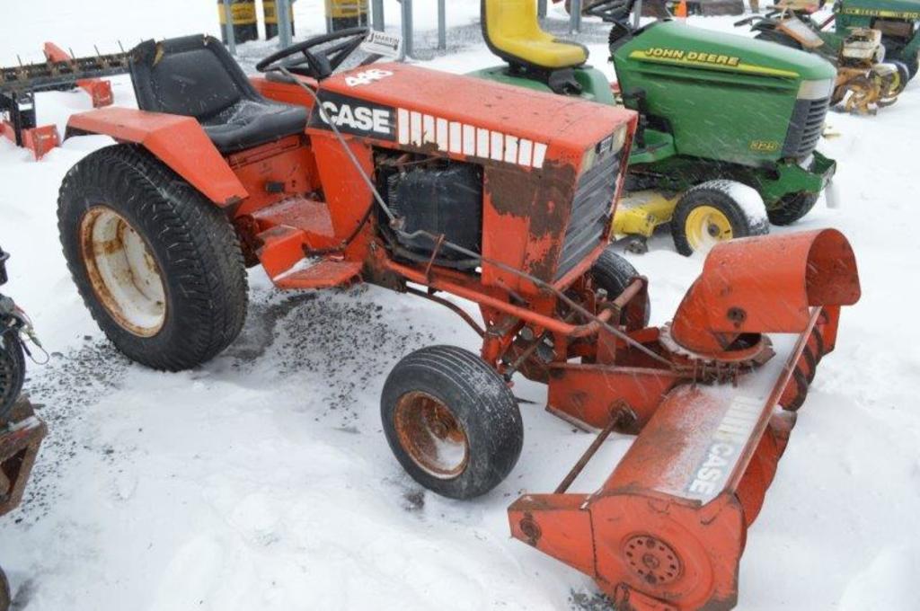 Case 446 w/ snowblower (don't run)
