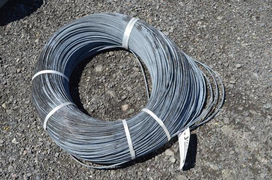 Coiled electric wire