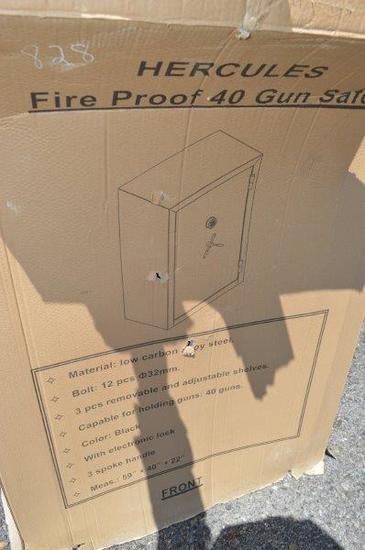 Hercules Fire proof 40 gun safe (new in box)