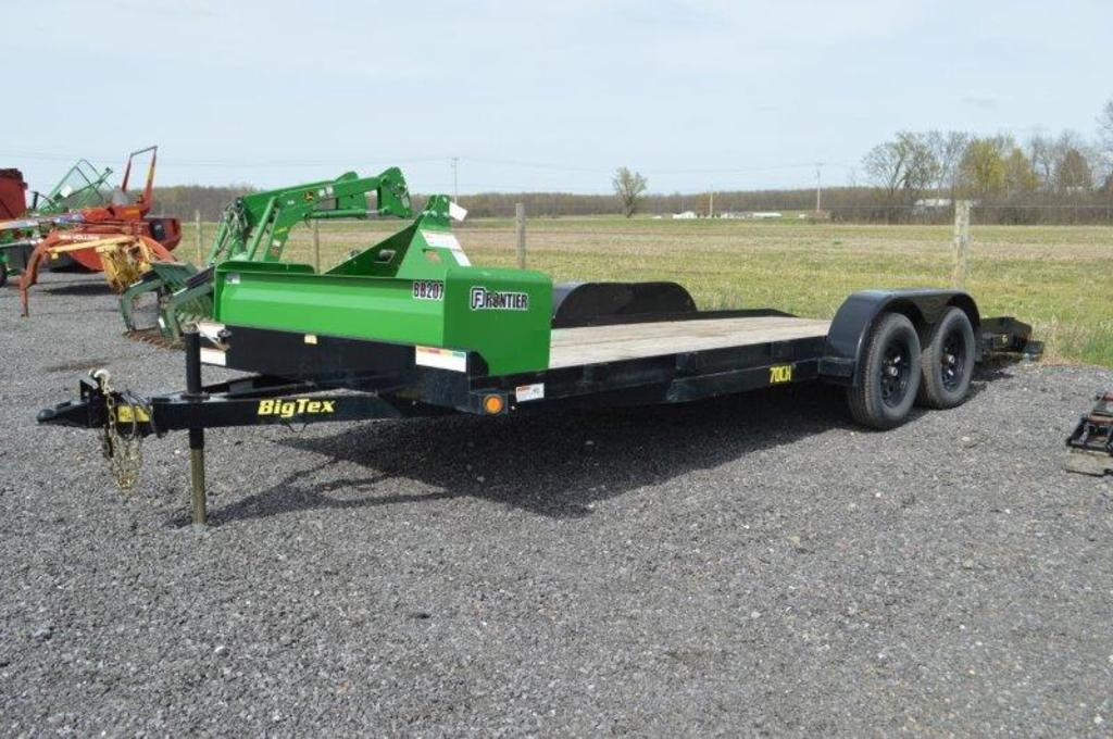 '18 Big Tex 70CH, 7'x18' equipment trailer w/ 2' dovetail & ramps, VIN# 16VCX202XJ3035543 (title)