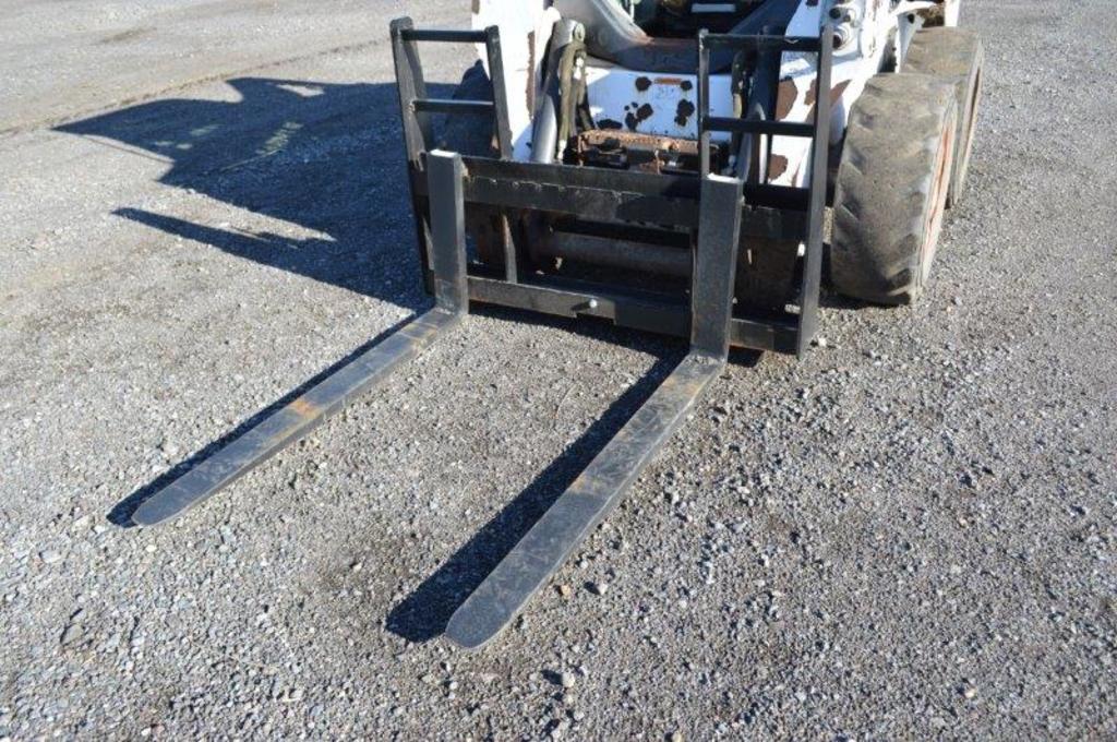 heavy duty skid mount 48'' pallet forks w/ walk through