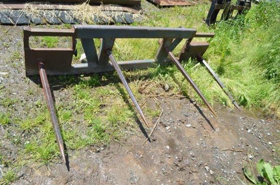4 prong skid mount bale fork