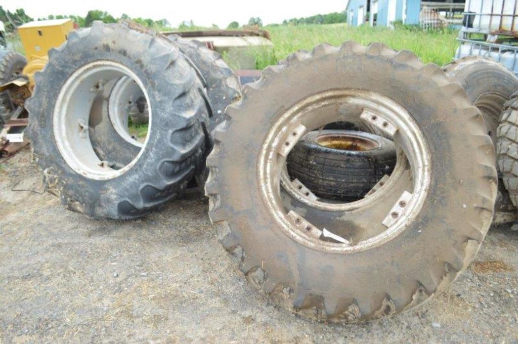 "4- 14.9R28 tires on 13"" rims"