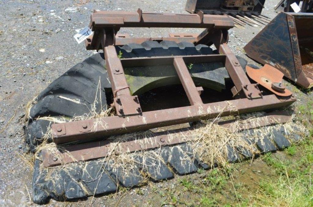skid mount tire scraper