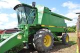 JD 9600 combine w/ 5,465/3,392 hrs, 4wd, new hyd pump, straw spreader, 30.5L-32 drive tires, 18.4-26