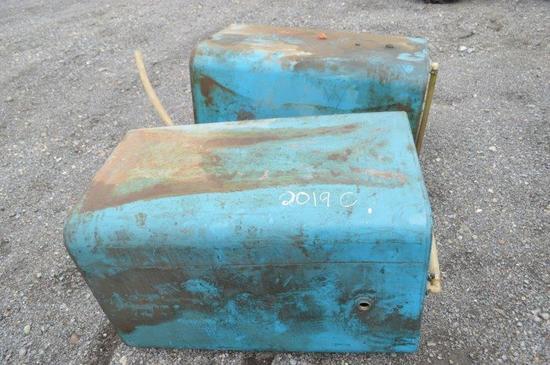 2- metal 60gal oil tanks