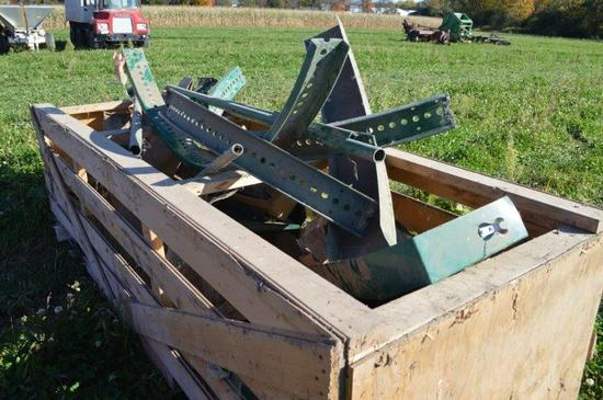 Crate of Val Metal Silo unloader parts