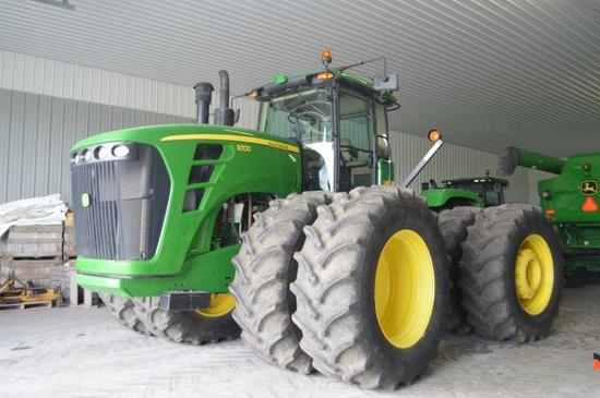 '08 JD 9330 w/ 1,961 hrs, power shift, 4 remotes, large 1000 pto, inside/outside rear weights, guida