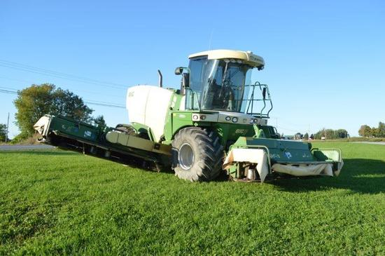 '14 Krone Big M 420 self propelled mower w/ 1600 engine hrs, Cat C13 engine, 32' mowing width, merge