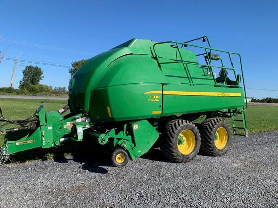 '16 JD L330 large square baler w/ 2630 display moniter, pre-cutter, 26,035 bale count, serial# 1EOL3