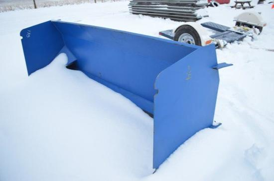 8' Skid mount Snow pusher (new)