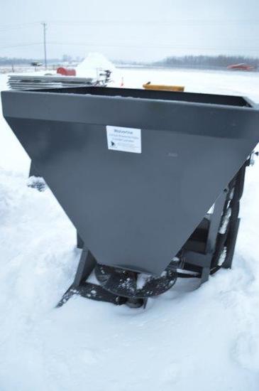 Wolverine heavy duty skid mount fert. spreader/seeder