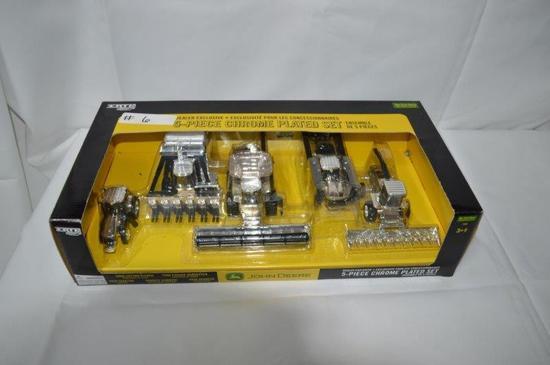 5- Piece chrome plated set, die-cast metal, 1/64th scale, new in box