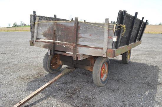 12'x9' Flat wagon on 6 ton gear