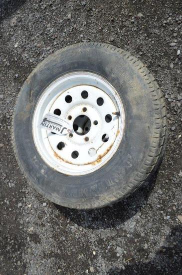 2- 5 bolt trailer tires
