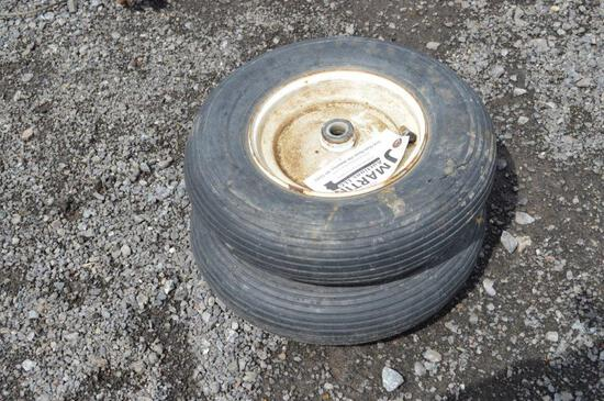2- wheelbarrow tires