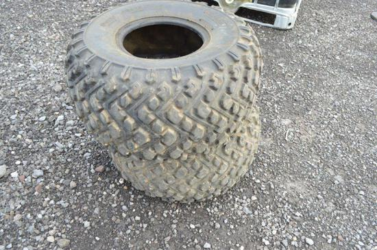Set of 25x12.00-9 4-wheeler tires
