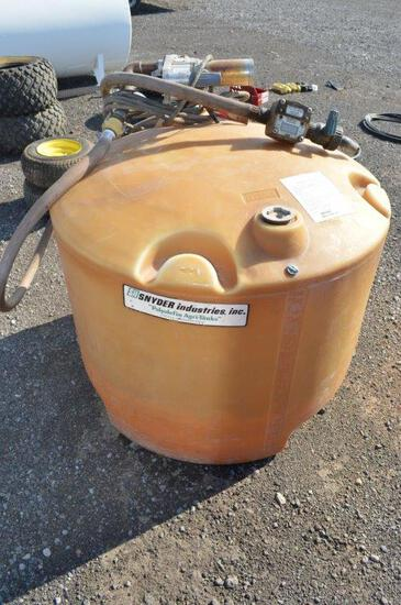 Portable 100 gal fuel tank w/ electric pump