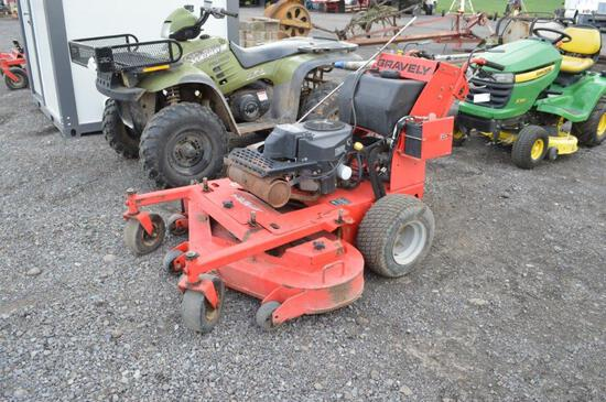 Gravely M-1403 walk behind mower  w/ 1157hrs, 52'' deck
