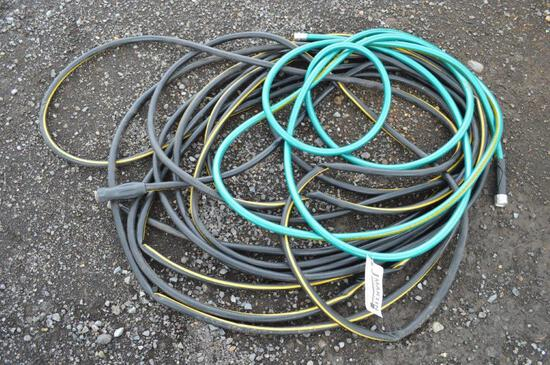 Large amount of garden hose