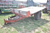 12' Flat bed dump wagon, single axle