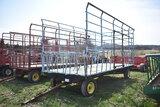 B&E 8'x18' hay wagon, single axle