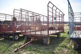 Pequea 918 9'x18' hay wagon on Pequea 1086 single axle running gear
