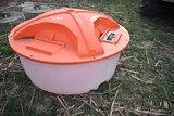 280gal molasses lick wheel tub