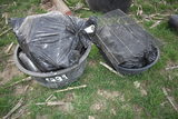 2- Plastic water tubs & large qty of milk bottles