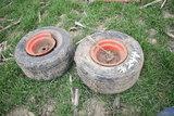 2- 18.5x8.50-8 tires w/ rims